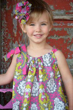 Girl outfit Pillowcase Dress Girls Baby by HaydiePotateeBoutq, $30.00