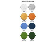 吸音「ウッドウール」から作ったカラフルな六角形の壁のタイル| Inhabitat - グリーンデザイン、イノベーション、建築、グリーンビルディング