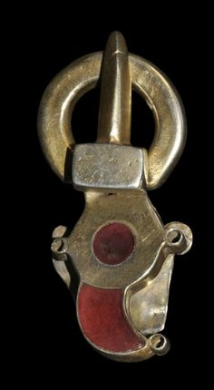 Ostrogothic Silver-Gilt and Garnet Buckle, 6th century A.D.