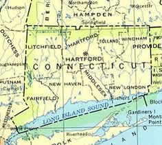 image result for connecticut map