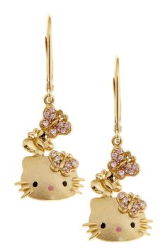 Omg I want these so bad- both of my loves in one!  Hello Kitty Drop Earrings on HauteLook