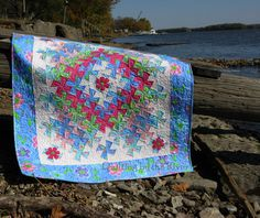 Freemotion by the River: Worldly Lil Twister quilt. Tutorial shows layout.