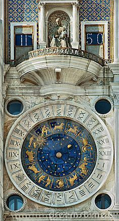Clocktower on the Piazza San Marco in Venice, Italy