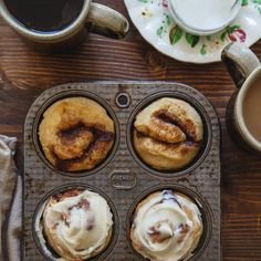 Quick Cinnamon Rolls for two. No yeast! Small batch.