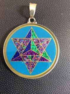 "Necklace MerKaBa 3D Star On Turquoise Gemstone 1.5"" Sterling Silver Mystic #gift    eBay"