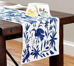 Otomi Embroidered Table Runner #potterybarn