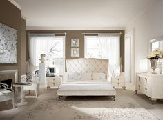 Modern traditional bedroom in pale pastel nuances and a lot of sunshine