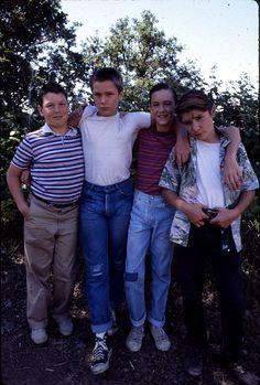 "River Phoenix, Corey Feldman, Wil Wheaton y Jerry O'Connell en ""Cuenta Conmigo"" (Stand by Me), 1986"