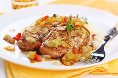 Hühnerbrust in Marillen-Mandel-Sauce