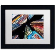 Trademark Fine Art Times Square Nyc Canvas Art by David Ayash, White Matte, Black Frame, Archival Paper, Size: 16 x 20