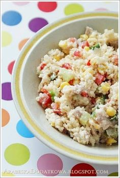 Kuskusowa sałatka z kurczakiem Appetizer Salads, Appetizers, Chicken Egg Salad, Couscous Salat, Polish Recipes, Polish Food, Vegetable Salad, Quinoa, Ham