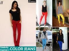 O jeans colorido é tendência absoluta e a Fargaz traz sugestão de looks de famosas como Amanda Seyfried, Rihanna, Jéssica Alba e Thaila Ayala para você se inspirar!