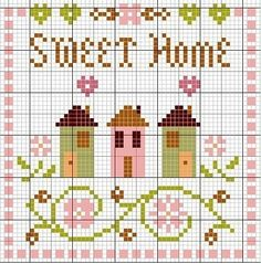 Thrilling Designing Your Own Cross Stitch Embroidery Patterns Ideas. Exhilarating Designing Your Own Cross Stitch Embroidery Patterns Ideas. Cross Stitch House, Cross Stitch Samplers, Cross Stitch Charts, Cross Stitch Designs, Cross Stitching, Cross Stitch Embroidery, Hand Embroidery, Cross Stitch Patterns, Beading Patterns