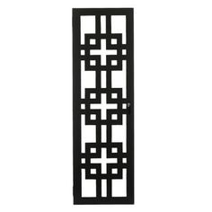 Visit The Home Depot to buy Home Decorators Collection Knot 48 in. H Black Wall Jewelry Cabinet 0802200210 Window Grill Design Modern, Grill Door Design, Door Gate Design, Window Design, Railing Design, Jewelry Wall, Jewelry Cabinet, Hanging Jewelry, Jewelry Armoire