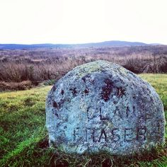 The Fraser Clan Stone on Culloden moor.