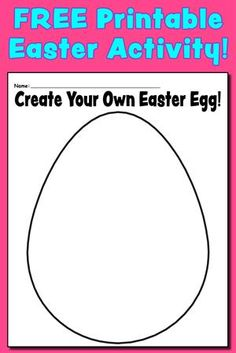 Create Your Own Easter Egg Coloring Page & Activity