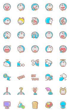 Cute Small Drawings, Cute Disney Drawings, Kawaii Drawings, Colorful Drawings, Stickers Kawaii, Cute Stickers, Doraemon Wallpapers, Cute Cartoon Wallpapers, Mini Doodle