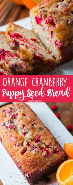 This Orange Cranberry Glazed Poppy Seed Bread is the perfect quick bread for if you want a whole loaf for the family or mini loaves for loved ones. via @ohsweetbasil