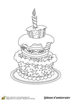 Le gâteau étoilé,  à colorier
