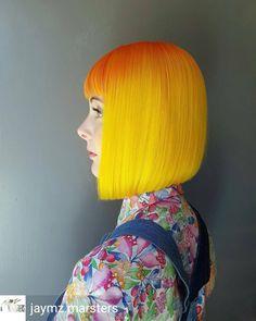 yellow & orange sunset hair