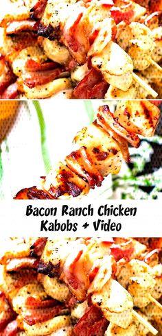 #bonelesschickenrecipes #garlicchicke... Chicken Kabob Recipes, Chicken Kabobs, Chicken Bacon Ranch, Tandoori Chicken, Shrimp, Meat, Ethnic Recipes, Food, Essen