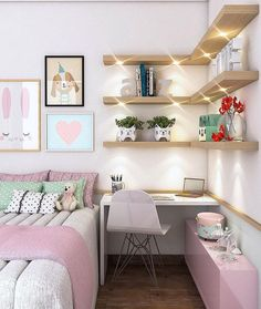 Teen girl bedrooms, decor reference number 3884577240 for refreshing room design. My Room, Girl Room, Small Room Organization, Small Room Design, Stylish Bedroom, Teen Girl Bedrooms, Teen Bedroom, Headboards For Beds, Colorful Decor