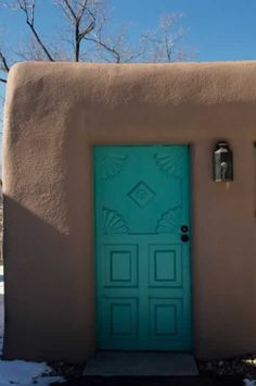 Decorating Ideas For Sante Fe Southwest Decor Style Painted Doors Interior Exterior