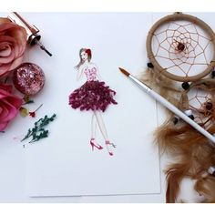 """63 Likes, 2 Comments - Sneha Tulsani (@sneha.illustradentist) on Instagram: """"Tuesdays it's flowers and dream-catchers. Happy Tuesday everyone. Experimenting with my collection…"""""""