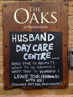 Nice bit of pre-Christmas marketing from a pub in Lancashire. Ignore the punctuation - the idea is nice.