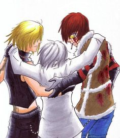 """""""M-Matt? Mello?  Where am I?""""  """"Hey kid.  It's been a while. Welcome home.""""  Near smiles, feeling his old bones become young again.  In the distance, L rose to his feet, walking toward them."""