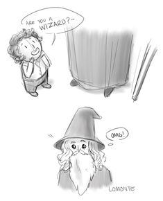 """ Gandalf discovering hobbits this one is actually two years old but I never posted it, still funny tho"""
