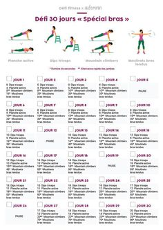Special arm exercises for women: 30 days challenge for the arms – Fitness training 30 Day Fitness, Yoga Fitness, Planet Fitness, Fitness Watch, Fitness Motivation, 30 Day Challenge, Workout Challenge, Best Fitness Programs, Power Training