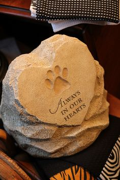 A sweet idea for memorializing a family pet.