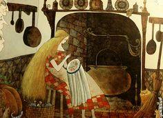the-eldest-woman-on:    Errol Le Cain, Cinderella