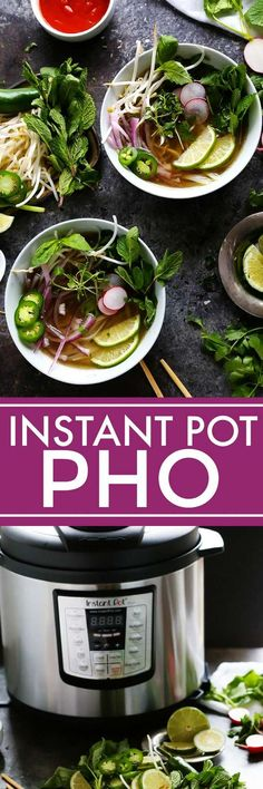 This Instant Pot Chicken Pho makes the traditional Vietnamese chicken noodle soup easy to make at home in around 30 minutes with the help of your pressure cooker.   platingsandpairings.com