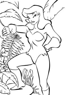Poison Ivy Coloring Page Print Out And Color This