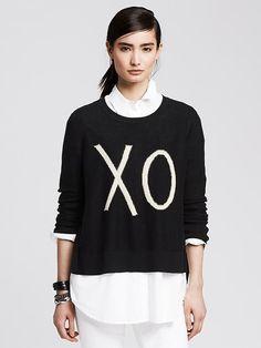 """""""XO"""" Cotton/Cashmere Pullover"""