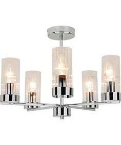 Wallis Glass 5 Light Ceiling Fitting. #ArgosRoomInspiration