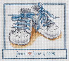 Baby Shoes - Cross Stitch Kit  www.123stitch.com