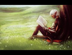 One good day by *Smilika on deviantART DA2 Fenris, Was able to teach him to read and still fell in love with Anders.