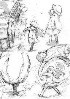 This is like Yara Drawing Reference Poses, Drawing Poses, Drawing Sketches, Art Drawings, Manga Drawing Tutorials, Drawing Techniques, Manga Art, Anime Art, Manga Poses