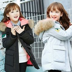 86.07$  Buy here - http://alia0m.worldwells.pw/go.php?t=32710102419 - 2016 Casual Fashion Girls Winter Cotton Jacket Children's Fur Collar Outerwear Coat Girl Thick Warm Parkas for 5-14 Years Girls 86.07$