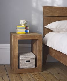 Sumatra bedside table - clean minimal hand-crafted bedrooms from Lombok