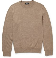 A.P.C. Knitted-Wool Crew Neck Sweater                                                                       | MR PORTER