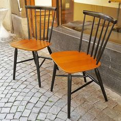 Stick Back Chairs, éd. Vevey, Vintage Design, Dining Chairs, Furniture, Home Decor, Decoration Home, Room Decor, Dining Chair, Home Furnishings