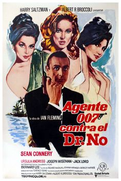 Dr No James Bond Framed Canvas Art Print,Retro Vintage,Man Cave,Bar A4 A3 Diner