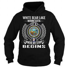 I Love White Bear Lake, Minnesota Its Where My Story Begins T-Shirts