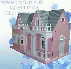 Modelo de casa pequeña Navidad / muñeca modelo de la casa habitación de casa de muñecas miniaturas de madera en Casas de Muñecas de Juguetes y Aficiones en AliExpress.com | Alibaba Group