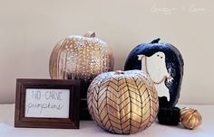 No Carve Pumpkins #halloween #decor #paint