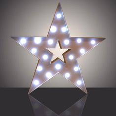 15  LED Battery Wall Sign Circus Star Sign Marquee Lights Rustic Symbol Display